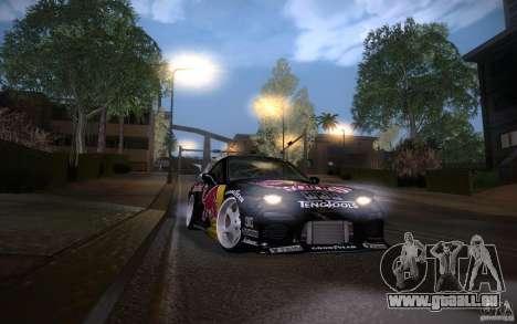 Mazda RX7 Madmikes Redbull für GTA San Andreas Seitenansicht