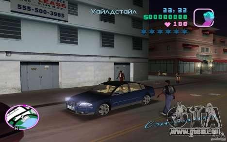 Volkswagen Passat B5+ W8 pour une vue GTA Vice City de la droite