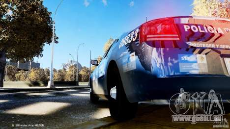 POLICIA FEDERAL MEXICO DODGE CHARGER ELS für GTA 4 Innenansicht