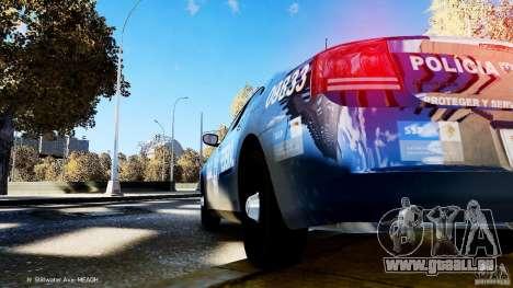 POLICIA FEDERAL MEXICO DODGE CHARGER ELS pour GTA 4 est une vue de l'intérieur