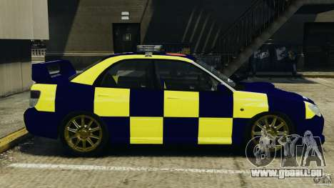 Subaru Impreza British ANPR [ELS] für GTA 4 linke Ansicht