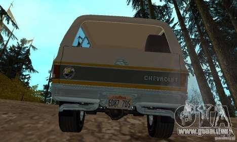 Chevrolet Blazer 1979 für GTA San Andreas zurück linke Ansicht