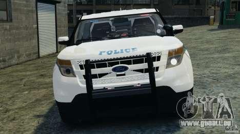 Ford Explorer NYPD ESU 2013 [ELS] pour GTA 4 est une vue de l'intérieur