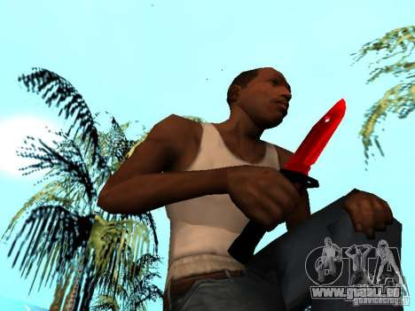 Red Chrome Weapon Pack pour GTA San Andreas onzième écran
