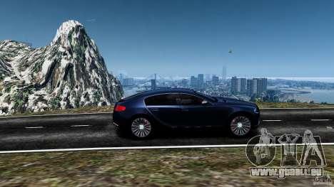 Bugatti Galibier 2009 pour GTA 4 vue de dessus