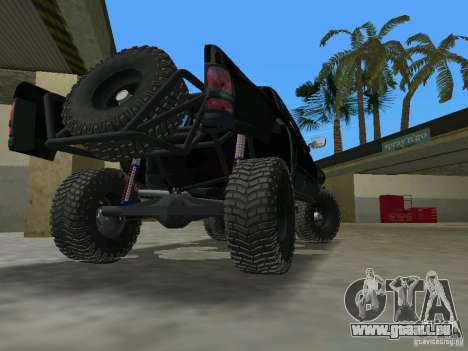 Dodge Ram Prerunner pour GTA Vice City sur la vue arrière gauche