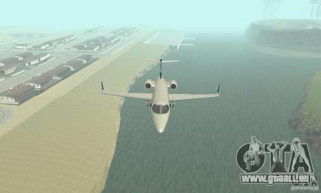 Bombardier Leardjet 45XR für GTA San Andreas Innenansicht
