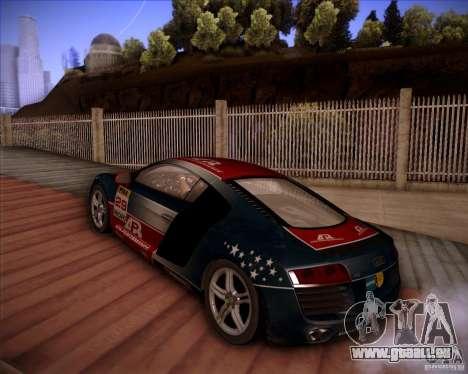 Audi R8 Shift für GTA San Andreas Rückansicht