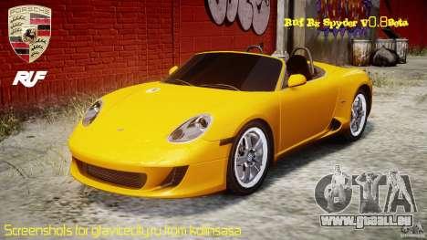 Ruf RK Spyder v0.8Beta pour GTA 4