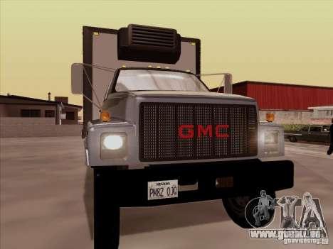 GMC Top Kick 1988 pour GTA San Andreas laissé vue