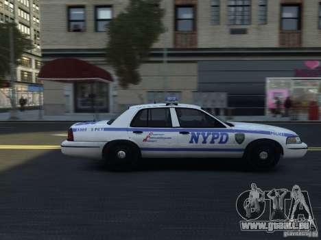 Ford Crown Victoria NYPD 2012 pour GTA 4 Vue arrière