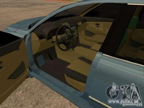 Toyota Camry für GTA San Andreas zurück linke Ansicht