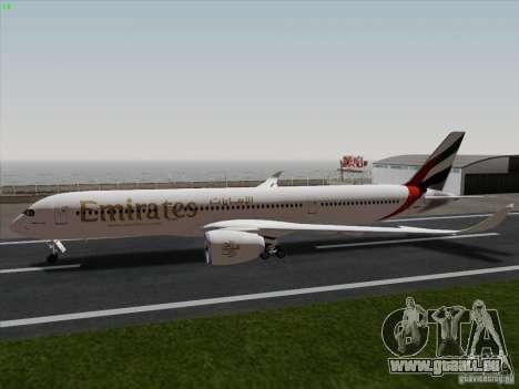 Airbus A350-900 Emirates für GTA San Andreas linke Ansicht