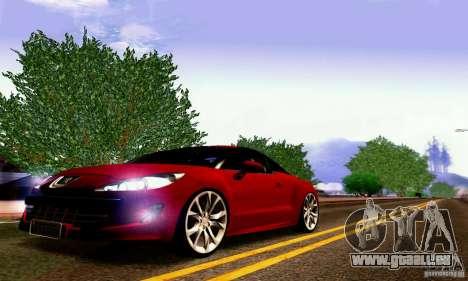 Peugeot Rcz 2011 pour GTA San Andreas vue de dessus