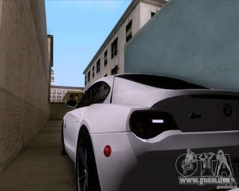 BMW Z4 M Coupe pour GTA San Andreas vue de dessus