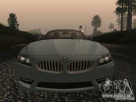 BMW Z4 für GTA San Andreas obere Ansicht