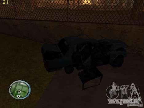 Voitures accidentées sur Grove Street pour GTA San Andreas cinquième écran