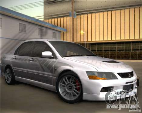 Mitsubishi Lancer Evolution IX Tunable pour GTA San Andreas vue de côté