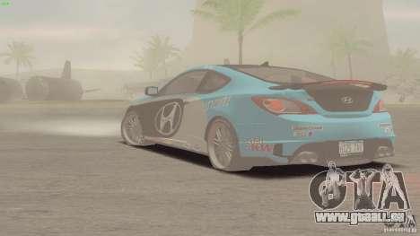 Hyundai Genesis Tunable für GTA San Andreas Innenansicht