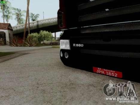 Scania R580 V8 Topline pour GTA San Andreas vue intérieure