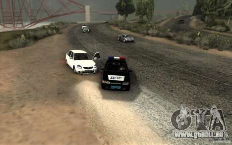 ВАЗ 2114-DPS für GTA San Andreas Rückansicht