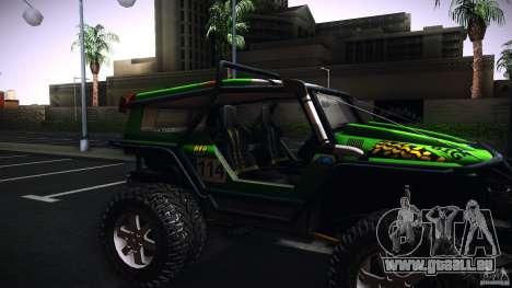Tiger 4x4 pour GTA San Andreas sur la vue arrière gauche