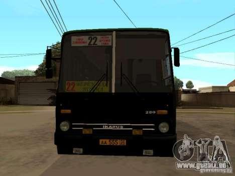 IKARUS 280 33M pour GTA San Andreas sur la vue arrière gauche
