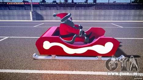 Santa Sled normal version für GTA 4 Innenansicht