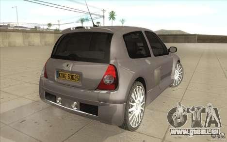 Renault Clio V6 pour GTA San Andreas vue arrière