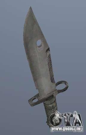 Le couteau de l'armée actuelle pour GTA San Andreas deuxième écran