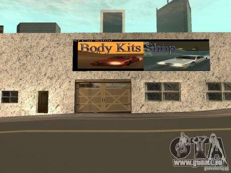 San Fierro Car Salon pour GTA San Andreas troisième écran