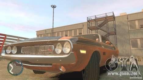 Dodge Challenger R T Hemi 1970 für GTA 4 rechte Ansicht