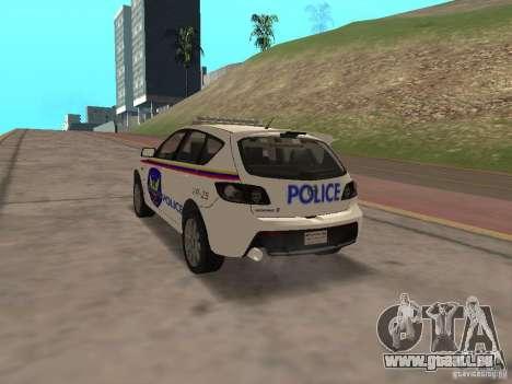 Mazda 3 Police für GTA San Andreas linke Ansicht