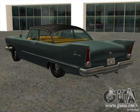 Plymouth Savoy 1957 pour GTA San Andreas laissé vue