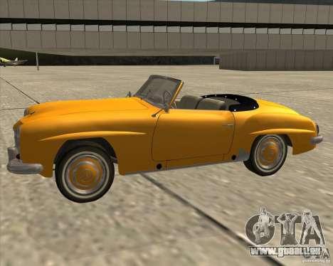 Mercedes Benz 190SL 1960 pour GTA San Andreas vue de droite