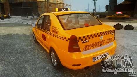 Dacia Logan Facelift Taxi pour GTA 4 Vue arrière de la gauche