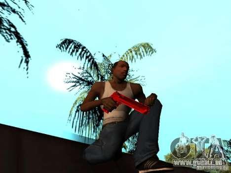 Red Chrome Weapon Pack pour GTA San Andreas dixième écran