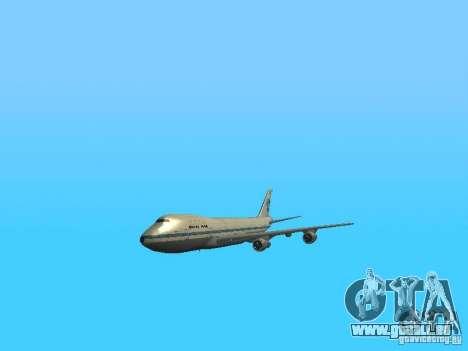 Boeing 747-100 Pan American Airways für GTA San Andreas Innenansicht