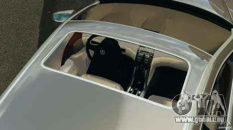 Honda Acura RL pour GTA 4 vue de dessus