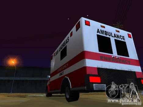 Ambulance 1987 San Andreas pour GTA San Andreas vue de côté