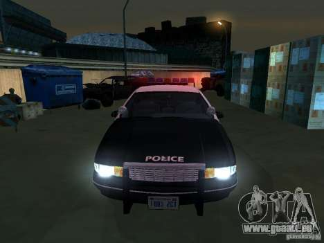 Chevrolet Caprice Police pour GTA San Andreas vue arrière