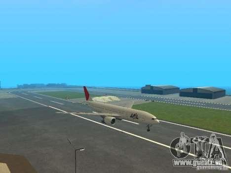 Boeing 777-200 Japan Airlines für GTA San Andreas zurück linke Ansicht