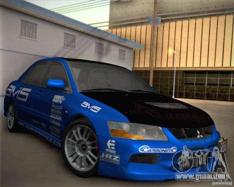Mitsubishi Lancer Evolution IX Tunable pour GTA San Andreas roue