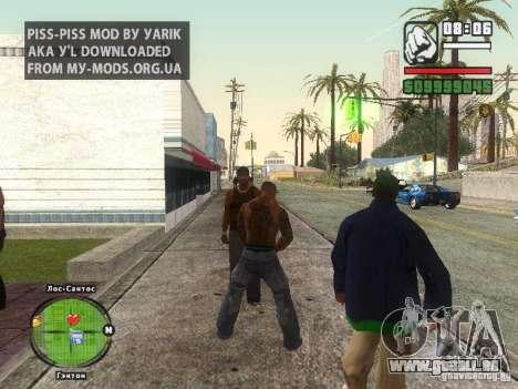 Piss Piss mod pour GTA San Andreas deuxième écran