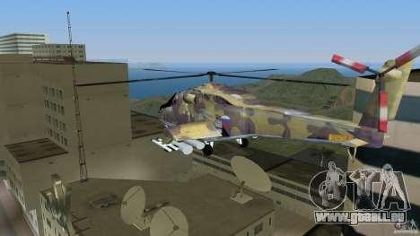 Mi-24 HindB pour une vue GTA Vice City de la gauche