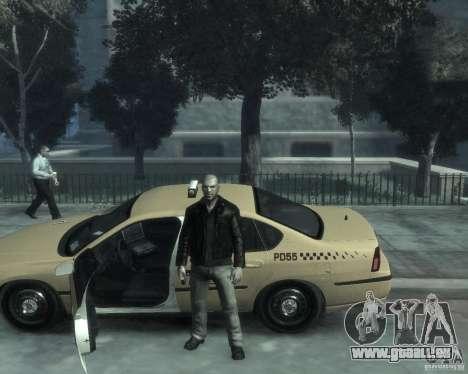 Chevrolet Impala 2003 Taxi pour GTA 4 est une vue de dessous