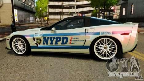 Chevrolet Corvette ZR1 Police pour GTA 4 est une gauche