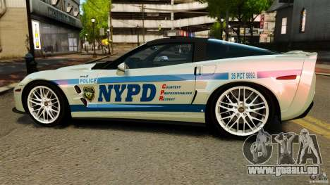 Chevrolet Corvette ZR1 Police für GTA 4 linke Ansicht