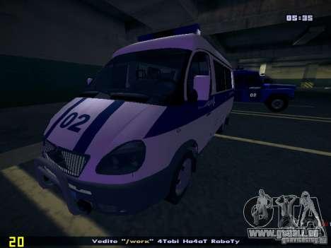 Gazelle 2705 Polizei für GTA San Andreas Seitenansicht