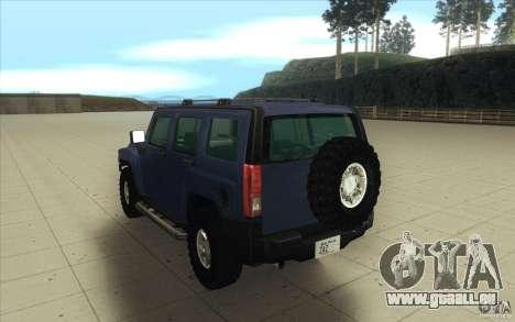 Hummer H3 pour GTA San Andreas vue de côté